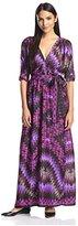 Melissa Masse Women's Long Wrap Dress