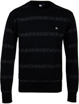 Money Black Repeat Crew Neck Sweatshirt