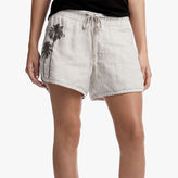 James Perse Embroidered Linen Dolphin Short