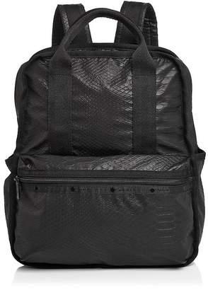 Le Sport Sac Gabrielle Box Croc-Embossed Backpack