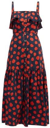 Borgo de Nor Florence Polka Dot Maxi Dress