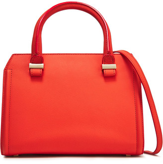 Victoria Beckham Patent-trimmed Leather Shoulder Bag