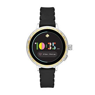 Kate Spade Women's Scallop 2 Stainless Steel Touchscreen smartwatch Watch with Silicone Strap