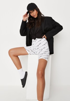Missguided Petite White Co Ord Cycling Shorts