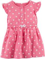 CARTERS Carter's Sleeveless Flutter Sleeve Fit & Flare Dress - Baby Girls