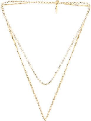 Luv Aj Diamonte Chain Charm Necklace