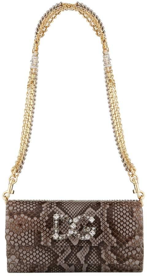 Dolce & Gabbana Dorina Python Clutch