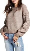 Vero Moda Bia Contrast Sleeve Crewneck Sweater
