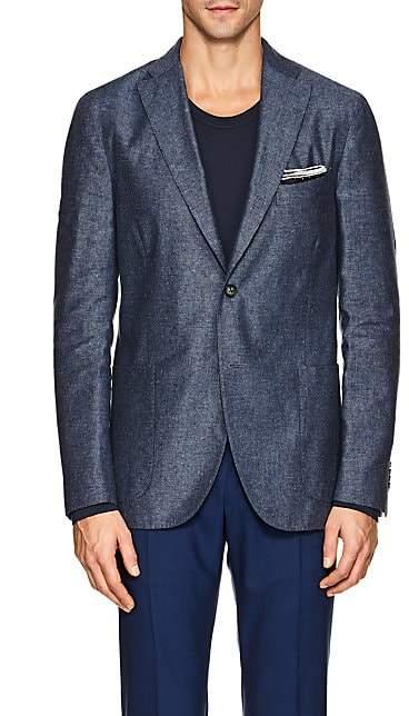 """Boglioli Men's """"K Jacket"""" Silk-Linen Two-Button Sportcoat - Blue"""