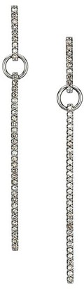 Nina Gilin Pave Diamond Rectangular Drop Earrings
