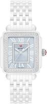 Michele Deco Madison Mid Diamond Watch Head & Ceramic Bracelet, 16mm