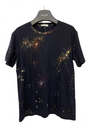 Valentino Navy Cotton T-shirts