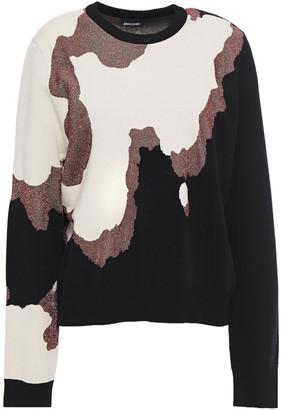 Just Cavalli Metallic Intarsia-knit Sweater