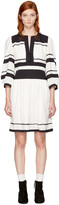 Etoile Isabel Marant Navy and Ecru Ramsey Dress