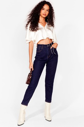 Nasty Gal Womens Mom's Always Right High-Waisted Jeans - Navy - 6, Navy