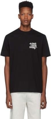 Leon Aime Dore Black Flocked T-Shirt