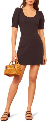 Reformation Elisha Puff Sleeve Knit Minidress