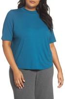 Eileen Fisher Plus Size Women's Mock Neck Tee