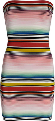 Missoni Mare Striped Strapless Mini Dress