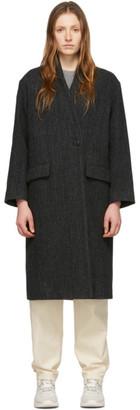 Etoile Isabel Marant Black Wool Henlo Coat