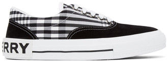 Burberry Black and White Vintage Check Skate Sneakers