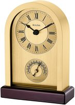 Bulova Harding Desk Clock in Brushed Brass