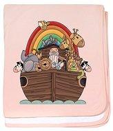 CafePress - Noah's Ark And Rainbow - Baby Blanket, Super Soft Newborn Swaddle