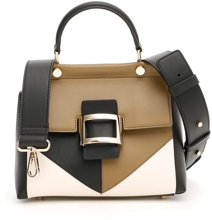 Roger Vivier Patchwork Graphic Mini Viv Bag