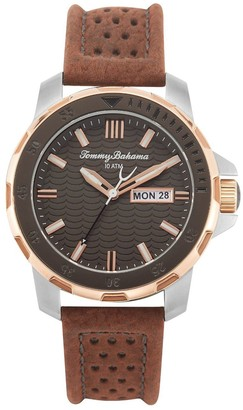 Tommy Bahama Men's Biscay Bay Diver Brown StrapWatch