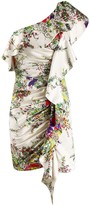 Blumarine ruffle one-shoulder dress