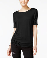 Planet Gold Juniors' Ruched Dolman-Sleeve T-Shirt