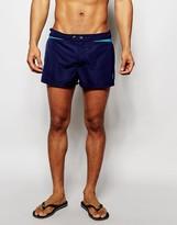 Diesel Chevron Swim Shorts In Shorter Length