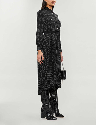 Maje Rosano dot-print crepe de chine dress