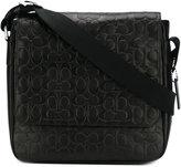Coach textured messenger bag - men - Calf Leather - One Size