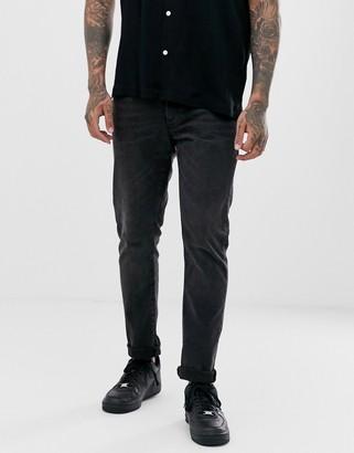 Topman slim jeans in black wash