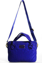 Marc by Marc Jacobs Blue Embroidered Gold Accent Medium Messenger Handbag