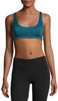 Lanston Ali Cross-Back Sports Bra, Turquoise