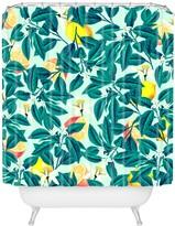 Deny Designs 83 Oranges Lemon Pattern Shower Curtain