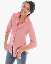 Chico's Cross-Dye Linen Shirt