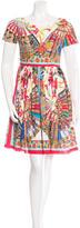 Dolce & Gabbana Spring 2016 Fan Print Pleated Dress