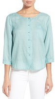 Nic+Zoe Women's 'Merci' Button Front Top