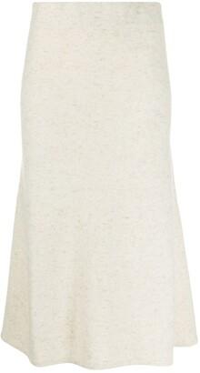 Agnona High-Waist Knitted Skirt
