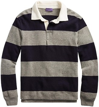 Ralph Lauren Purple Label Striped Rugby Polo Shirt