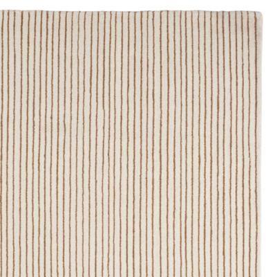 Pencil Stripe Rug Mocha