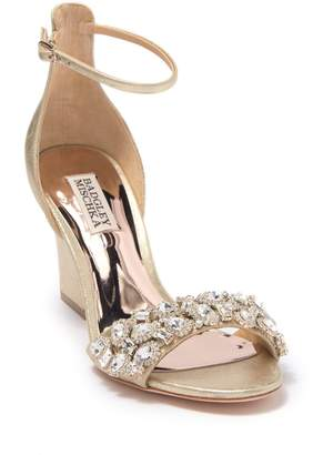 Badgley Mischka Laraine Embellished Ankle Strap Sandal