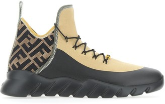 Fendi FF Contrasting Panelled Sneakers