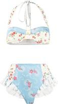 LoveShackFancy Kimberley floral bikini set