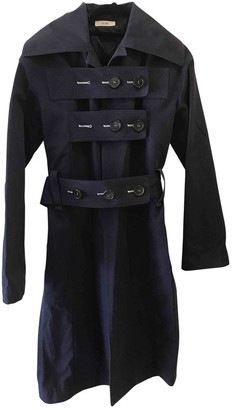 Celine Blue Cotton Coat for Women