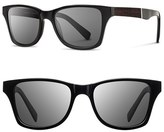 Shwood Men's 'Canby' 53Mm Wood Sunglasses - Black/ Ebony/ Grey