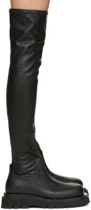 Bottega Veneta Black Tall Combat Boots